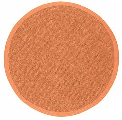 Tappeto rotondo (sisal) - Manaus (marrone/orange)