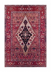 Tappeto Wilton - Tibet Afghan (rosso)