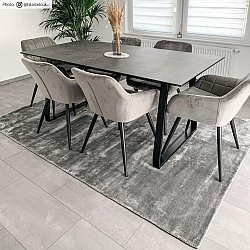 Tappeto In Viscosa - Jodhpur Special Luxury Edition (grigio)