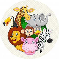 Tappeti per bambini - Exotic Animals (multi)