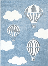 Tappeti per bambini - Bueno Hot Air Balloon (blu)