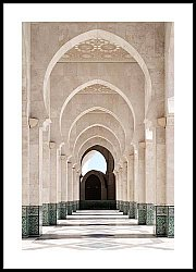 Arcade of Hassan II Mosque